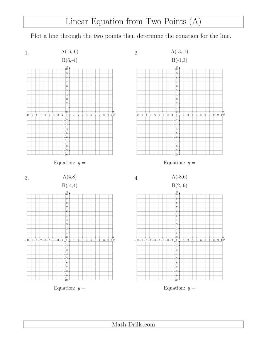 Linear Equations From Tables Worksheet 28 [ Linear Equation Worksheets ]