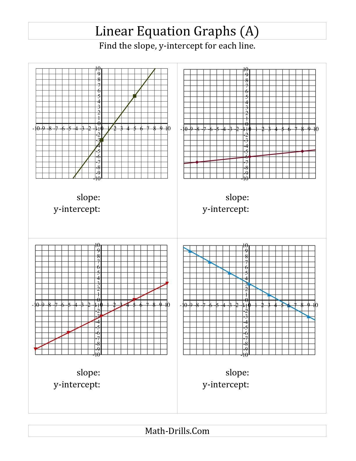 Linear Equations From Tables Worksheet the Finding Slope and Y Intercept From A Linear Equation