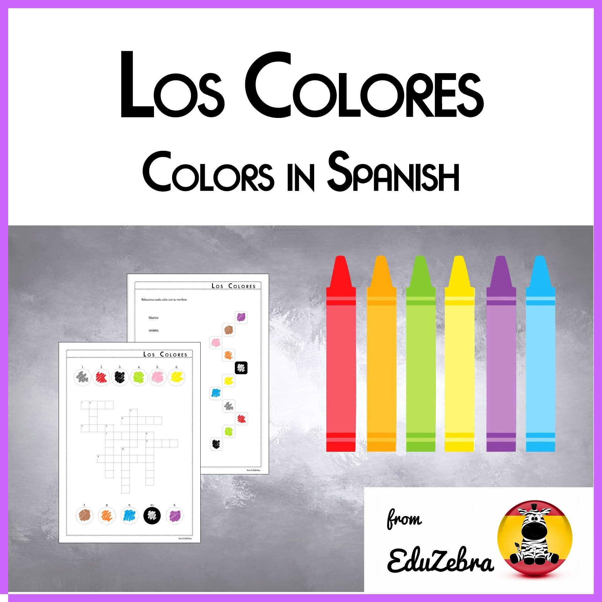 Los Colores En Espanol Worksheet Colors In Spanish Los Colores Activity Pack