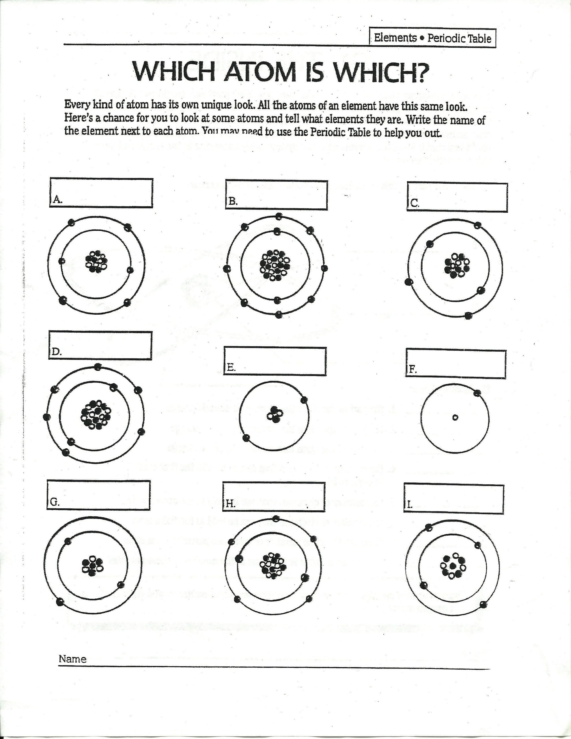 Middle School Periodic Table Worksheet Answers to Drawing atoms Worksheet Answers to Drawing