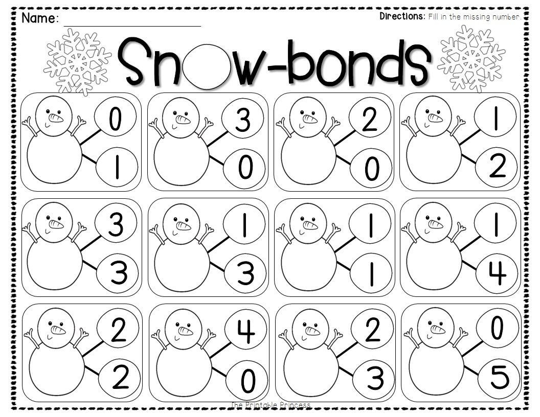 Number Bond Worksheets 2nd Grade Number Bond Worksheets Freebies