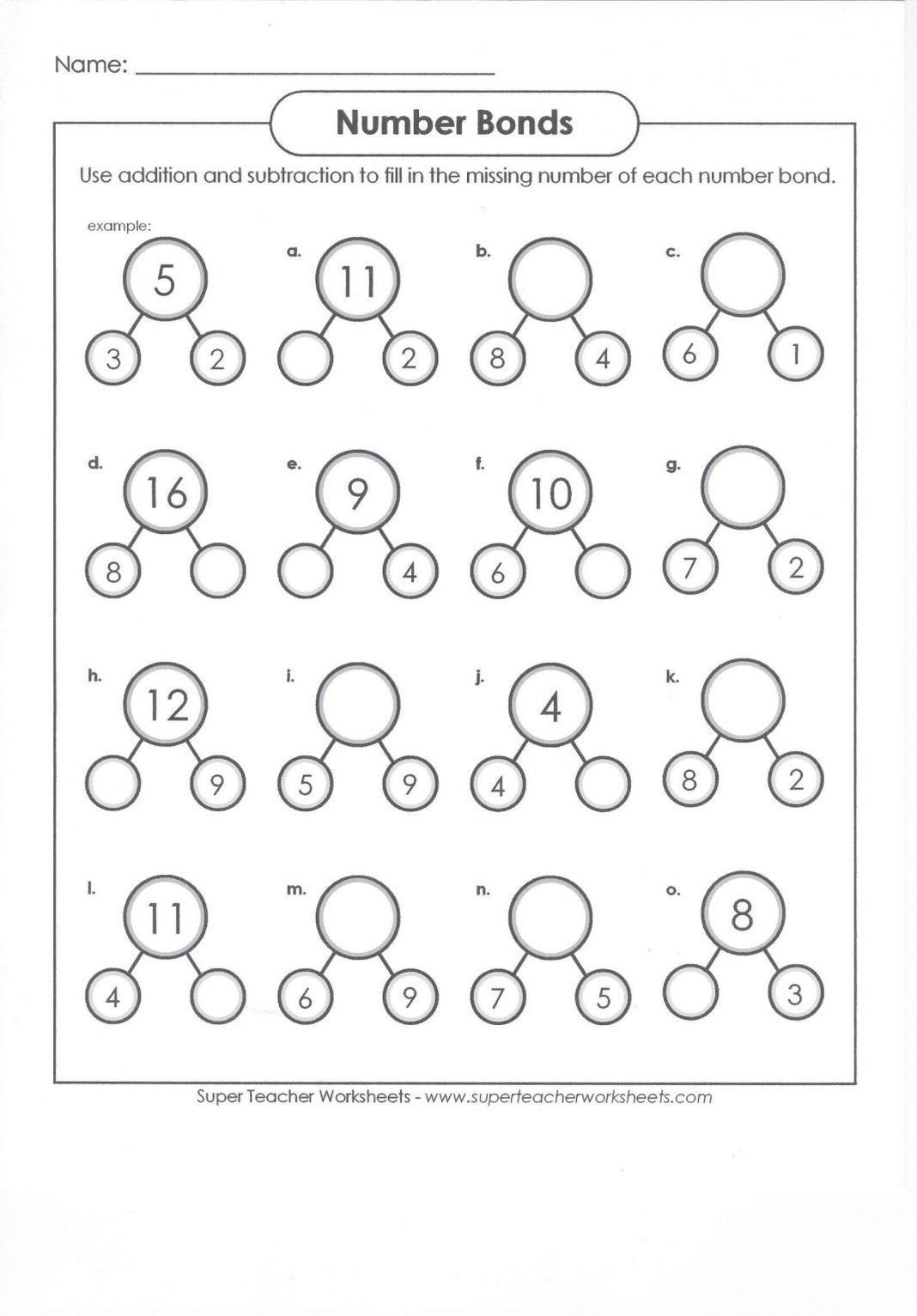 Number Bond Worksheets 2nd Grade Pin On Daddy