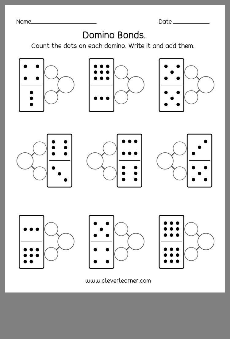 Number Bond Worksheets Kindergarten Pin by Stephanie Menard Math