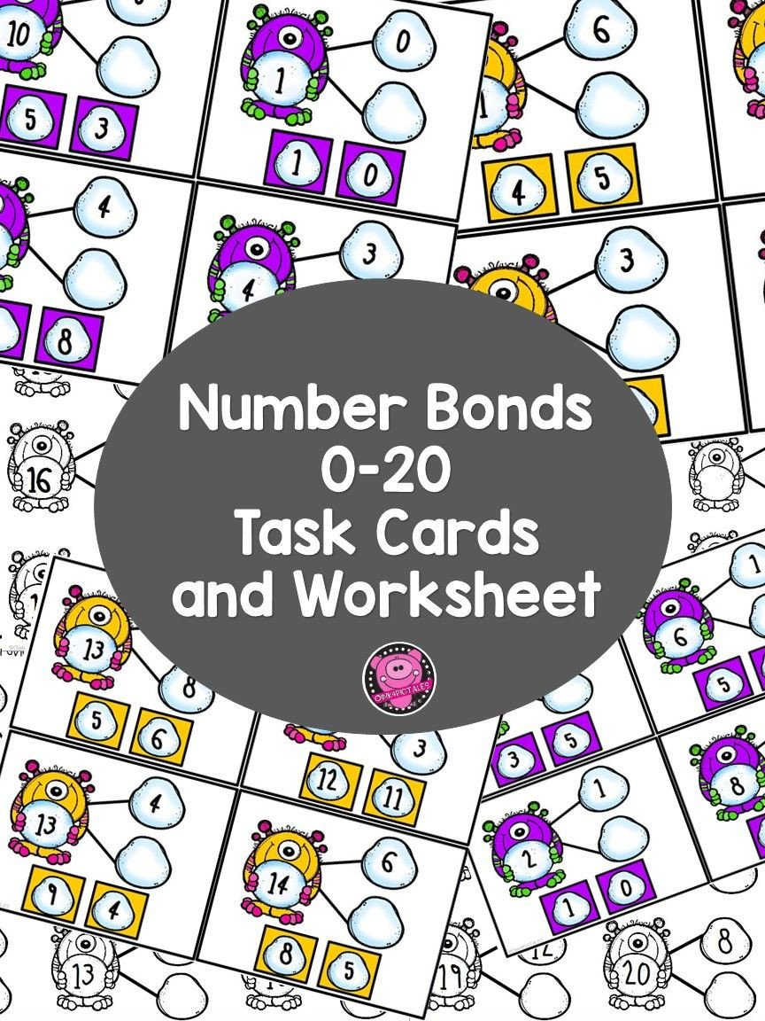 Number Bonds to 20 Worksheet Number Bonds to 10 Number Bonds to 20 Worksheets L