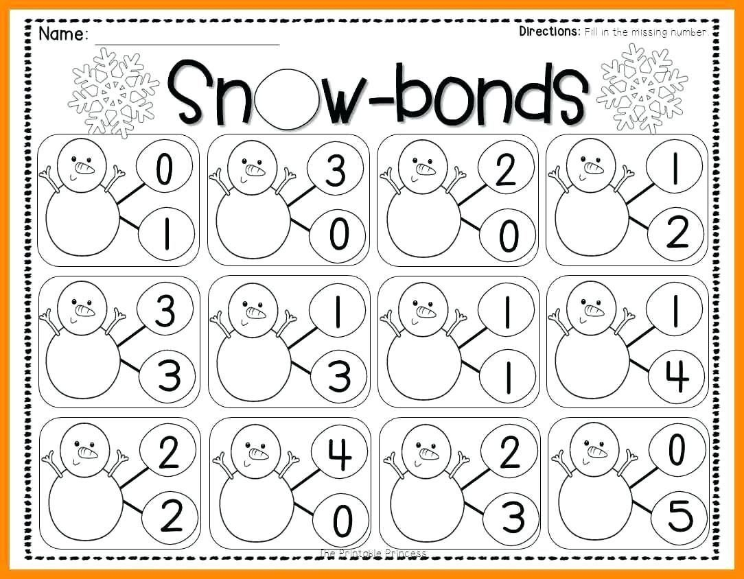 Number Bonds Worksheets Kindergarten Free Number Bonds Worksheets Math Free Preschool