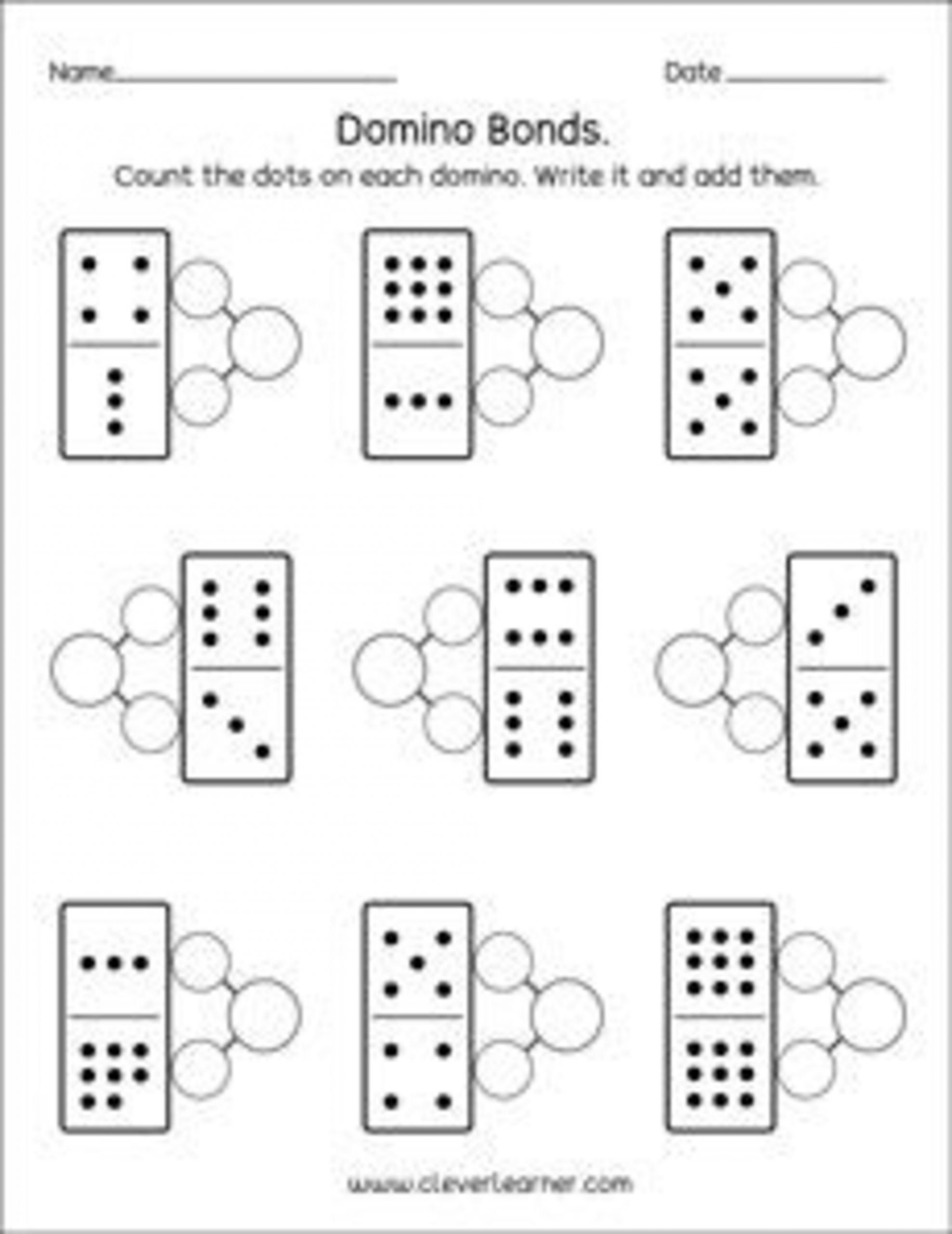 Number Bonds Worksheets Kindergarten Number Bonds Worksheets for Printable Number Bonds