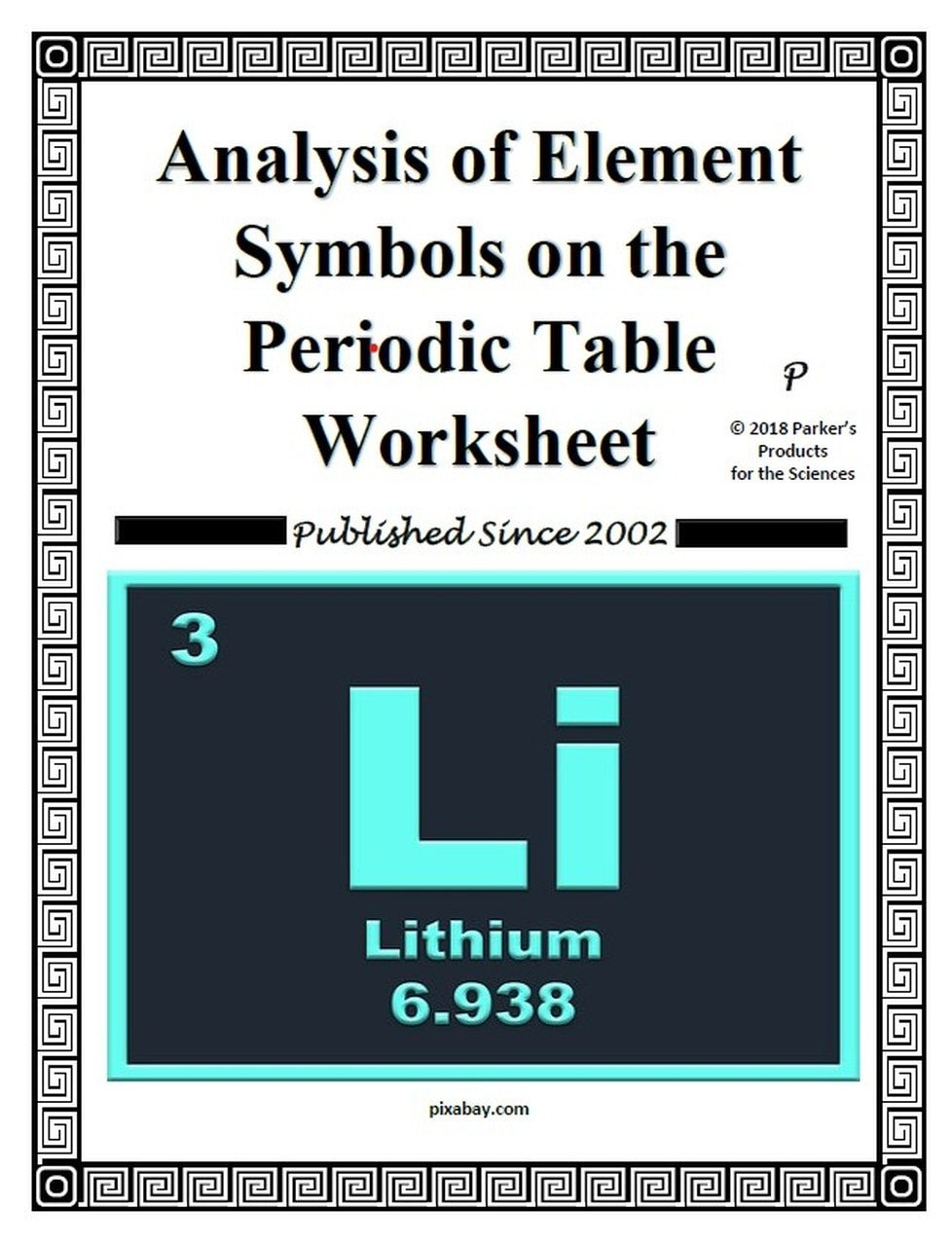 Periodic Table organization Worksheet Analysis Of Element Symbols On the Periodic Table Worksheet