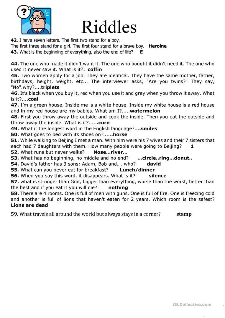 Periodic Table Riddles Worksheet 9 Best Answers Worksheets Images On Best Worksheets Collection
