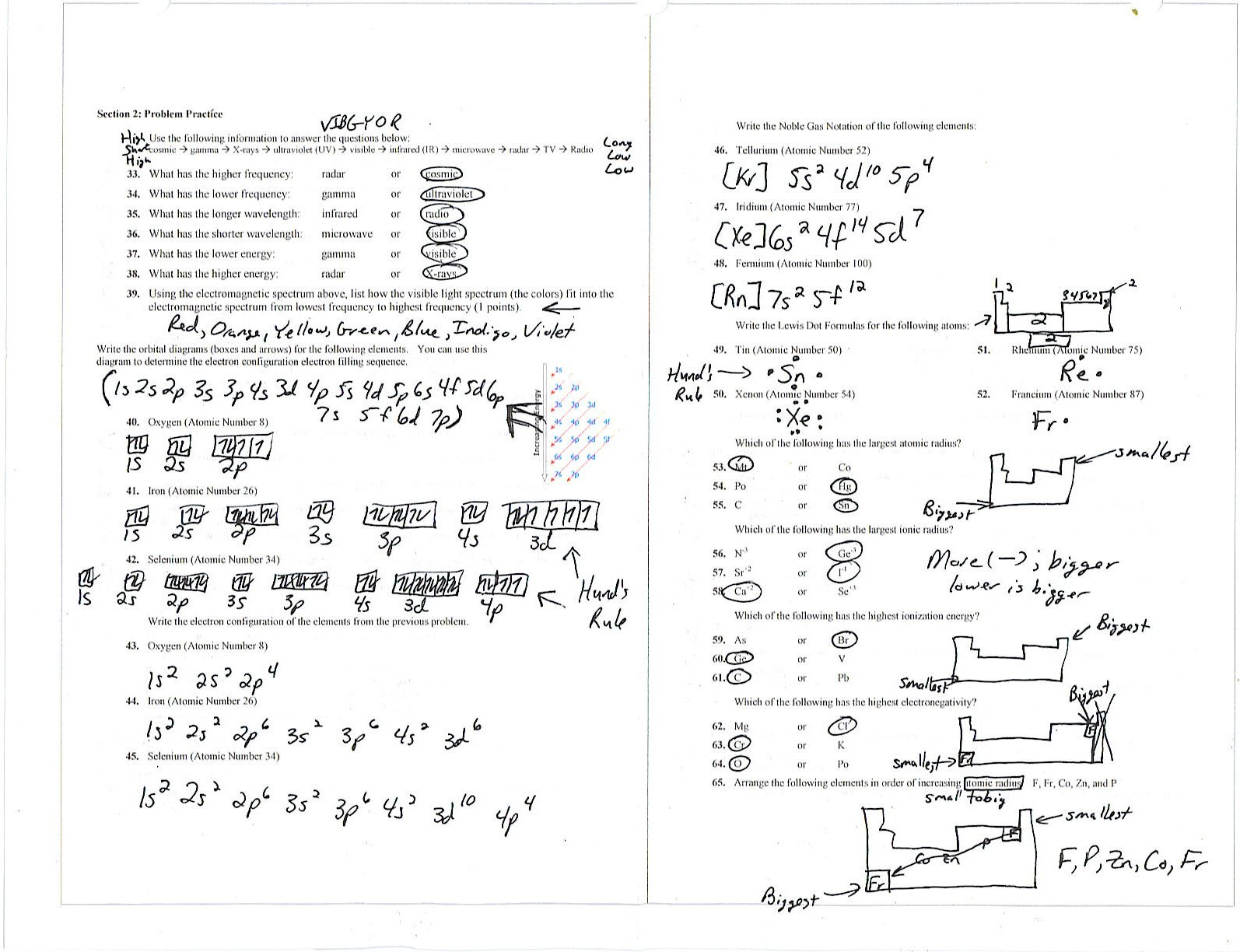 Periodic Table Worksheet 3 Answers Worksheet 3 Electron Configuration