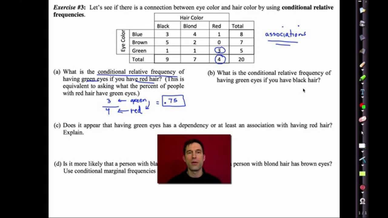 Relative Frequency Table Worksheet Mon Core Algebra I Unit 10 Lesson 5 Two Way Frequency Tables by Emathinstruction