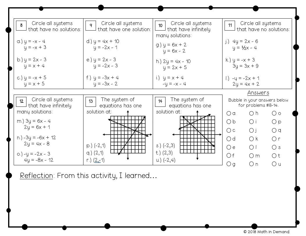 Slope From Table Worksheet 8th Grade Math Worksheets Math In Demand