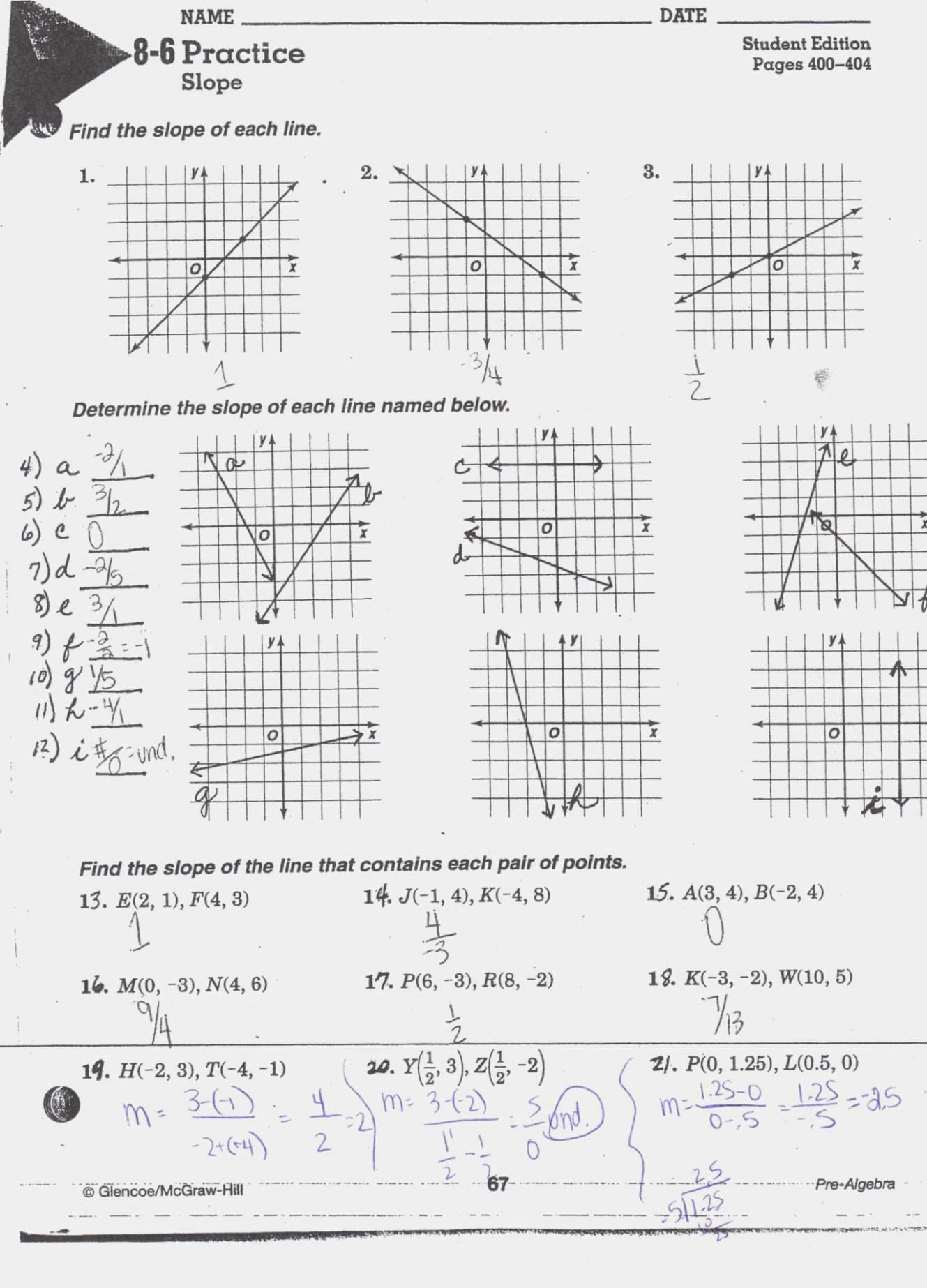 Slope From Table Worksheet Slope Maze Worksheet