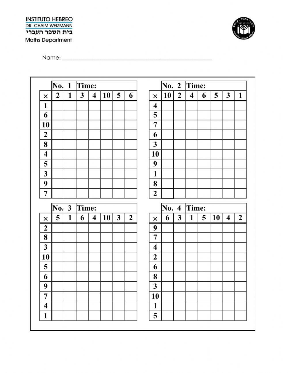Slope From Table Worksheet Time Table Challenge Interactive Worksheet
