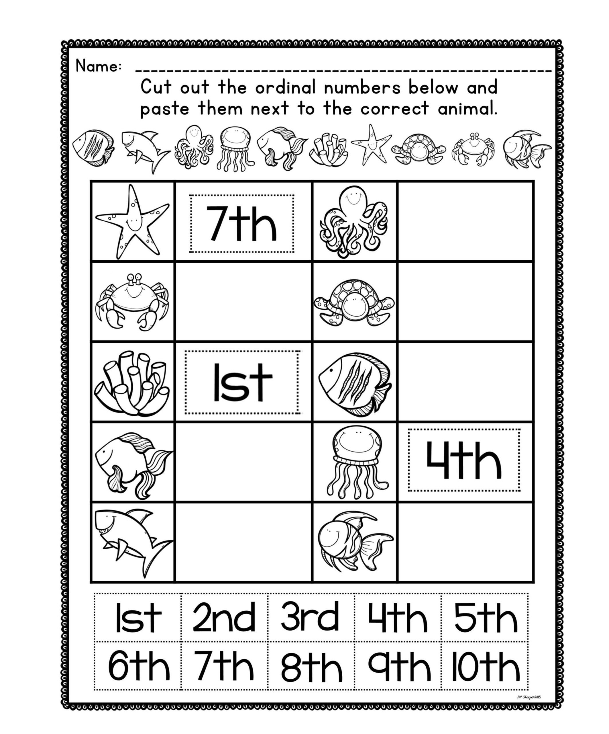 Spanish ordinal Numbers Worksheet ordinal Numbers Worksheet