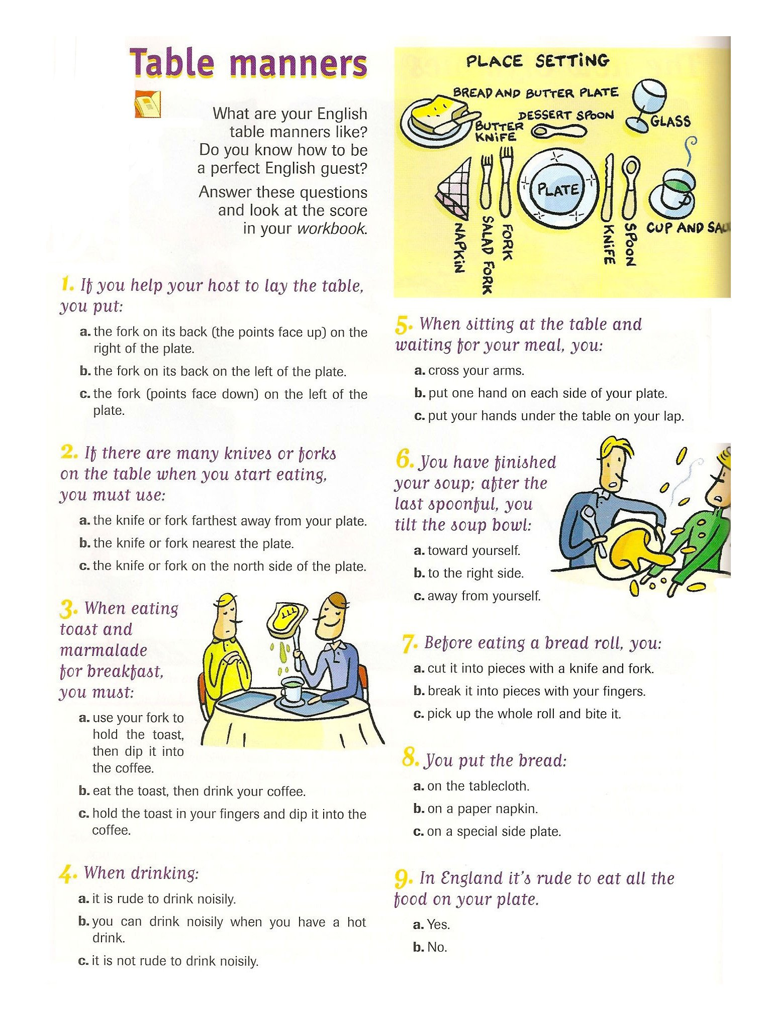 Table Manners for Kids Worksheets Table Etiquette Worksheets