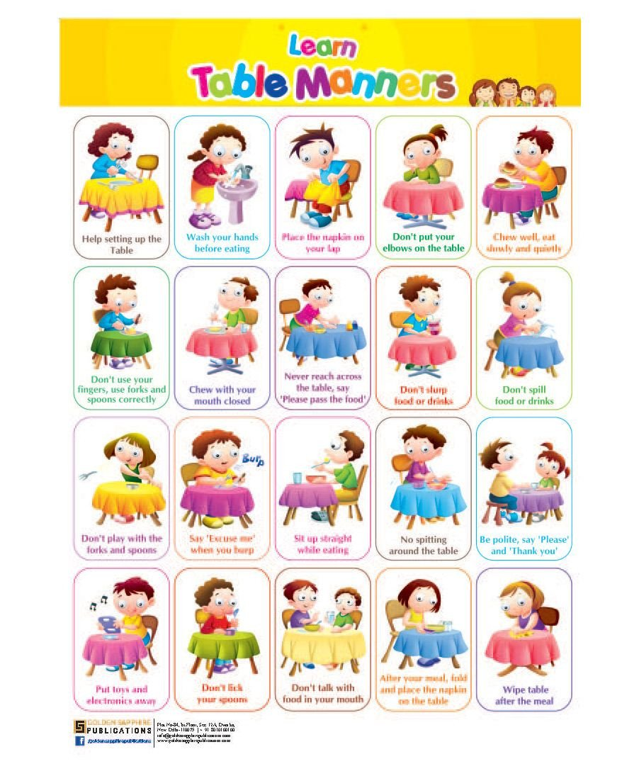 Teaching Table Manners Worksheets Image Result for Table Manners for Kids Printable