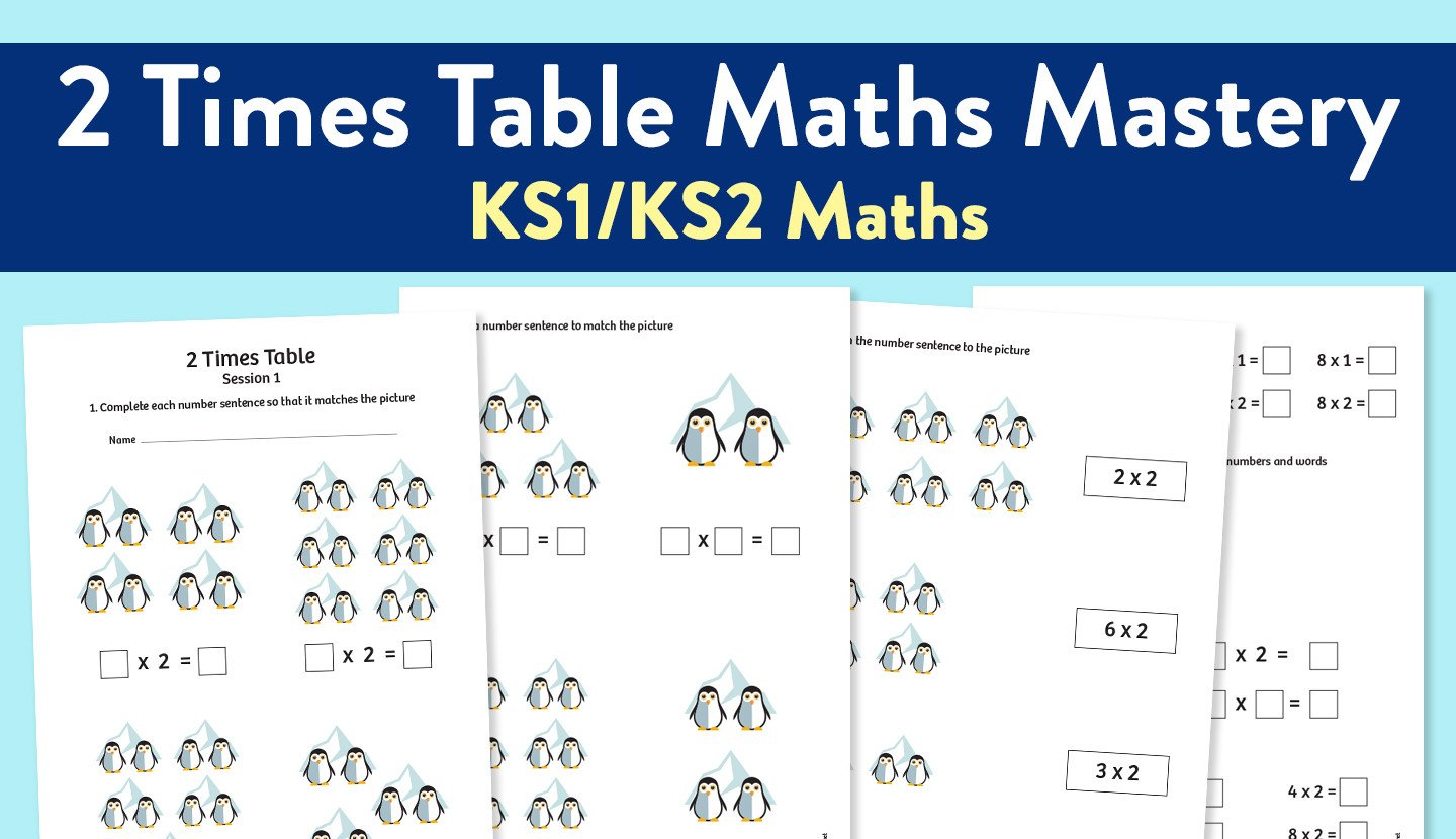 Two Times Tables Worksheet Maths Mastery Worksheet for Teaching the 2 Times Table
