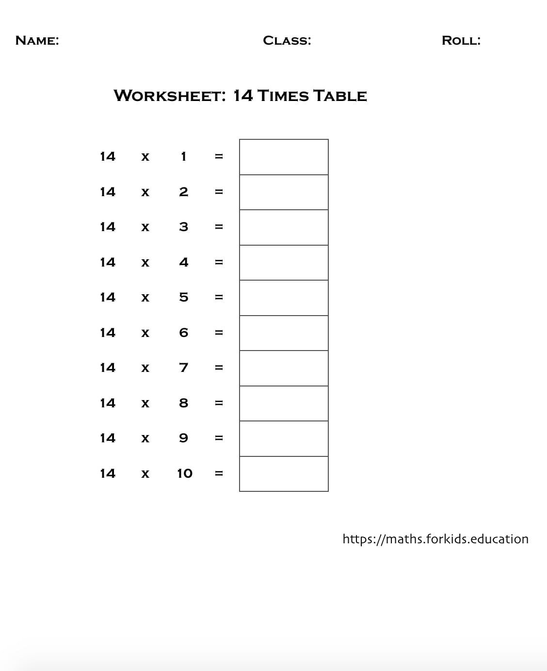 Two Times Tables Worksheet Multiplication Tables Of 1 to 20 with Printable Charts and