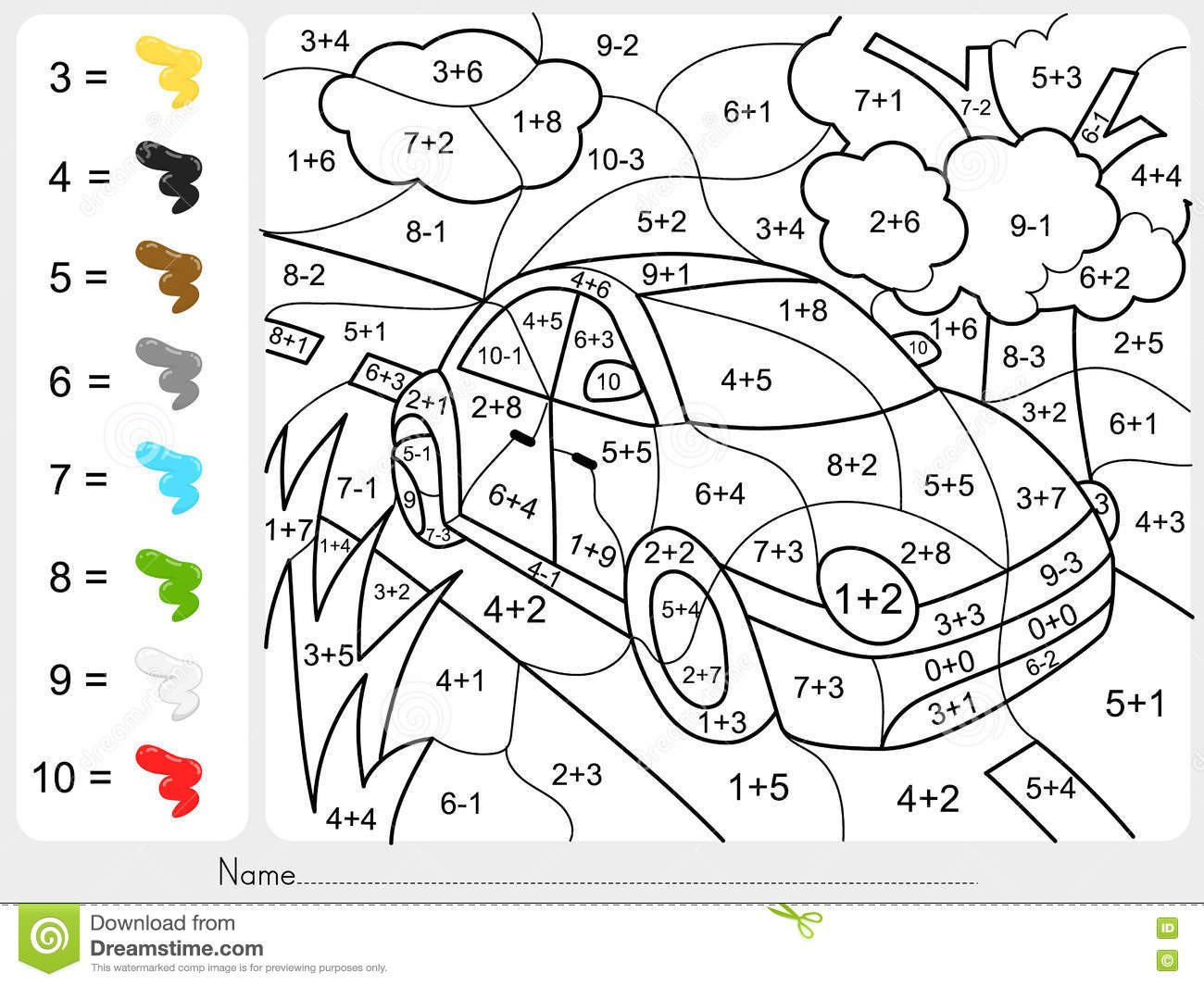 free color by number online games addition printables coloring sheets paint play