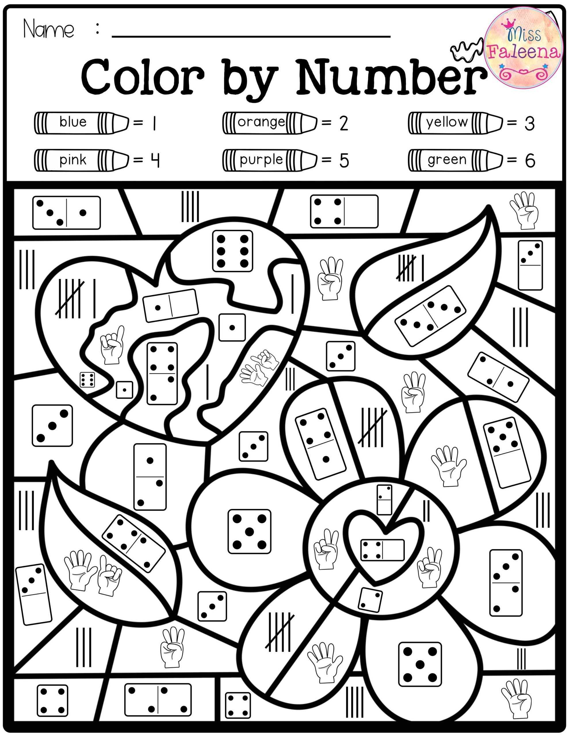 Color by Number Equations Worksheets Best Color by Number In Numbers Maths Worksheets for