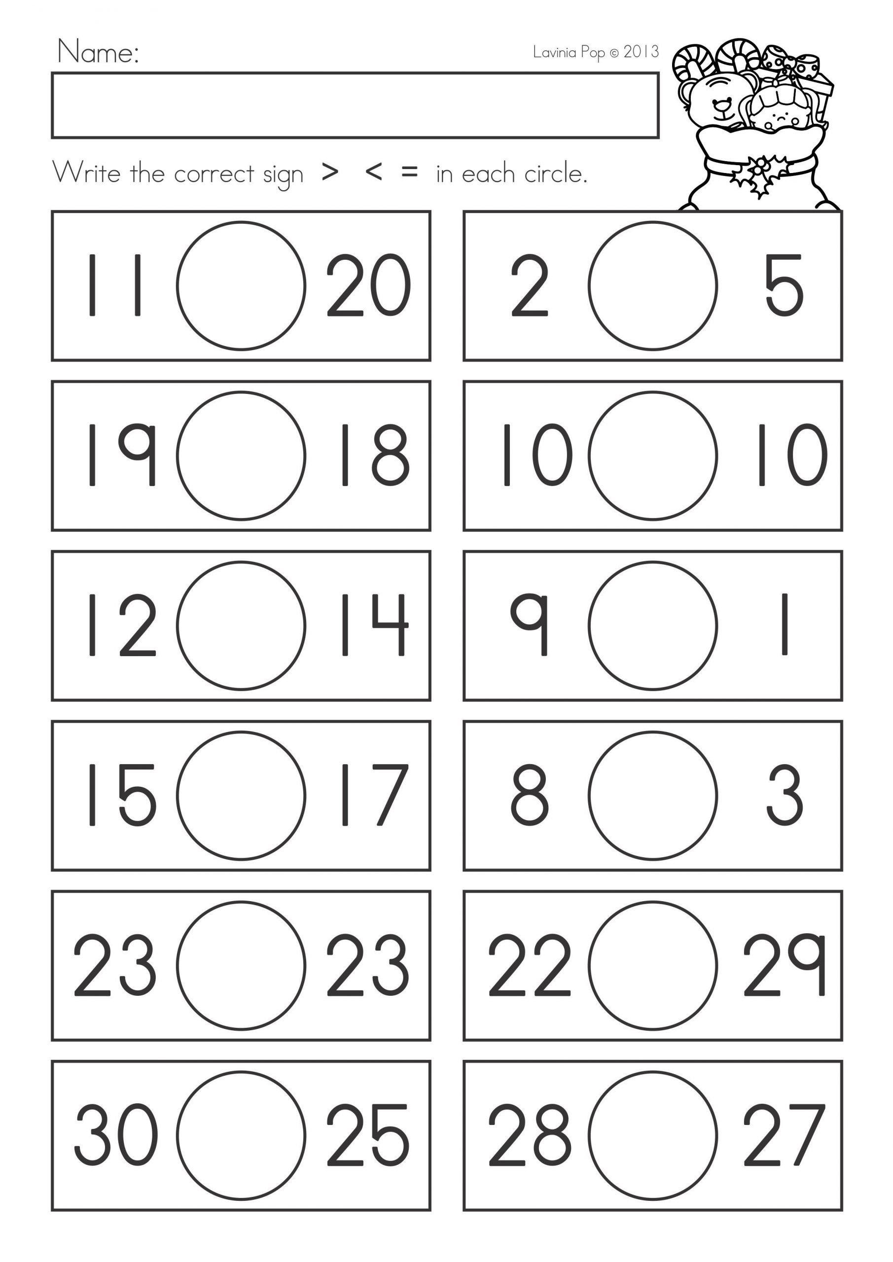 Comparing Numbers Worksheets for Kindergarten Paring Numbers Worksheets to Download Paring Numbers