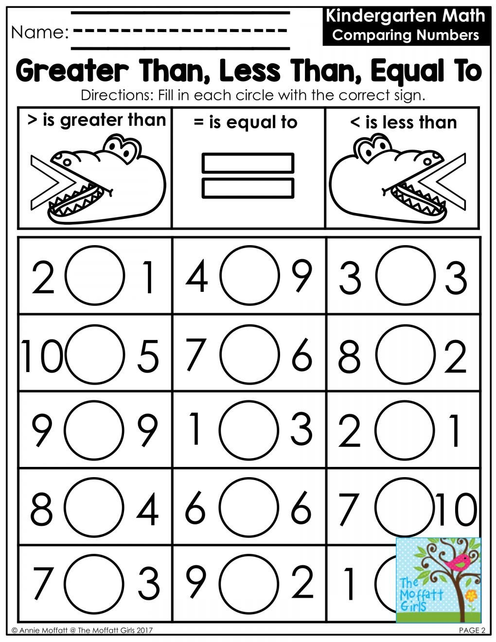 Comparing Numbers Worksheets for Kindergarten Pin On Kindergarten Worksheet