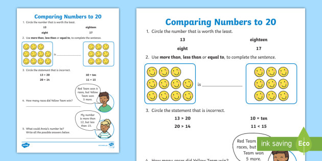 t n paring numbers to 20 activity sheet
