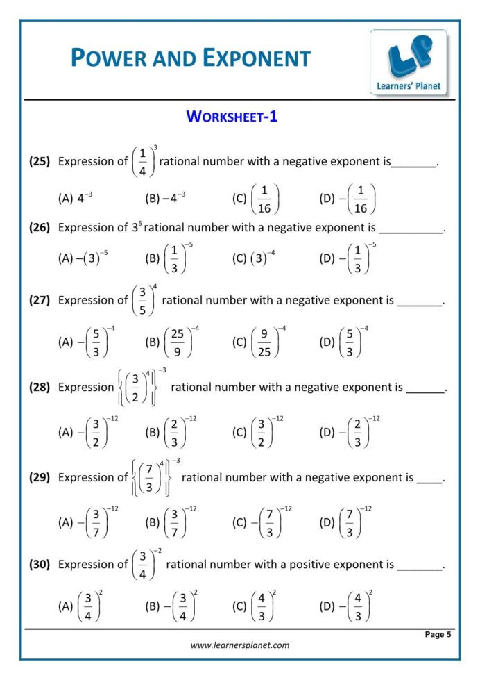 8th math cbse exponents and powers worksheets games for year olds free doubles color by 692x979