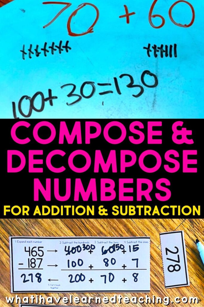 Decomposing Numbers First Grade Worksheets Pose & De Pose Numbers for Addition & Subtraction