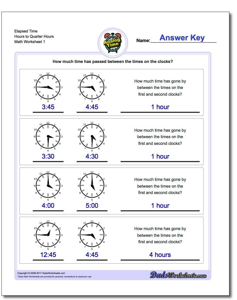 Elapsed Time Number Line Worksheet Printable Pdf Analog Elapsed Time Worksheets