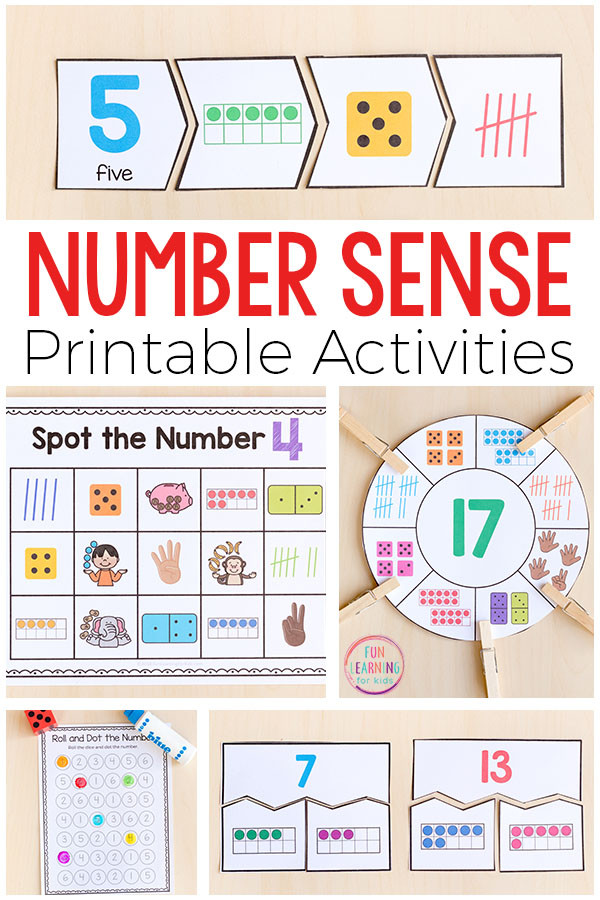 First Grade Number Sense Worksheets Printable Number Sense Activities for Kindergarten and First