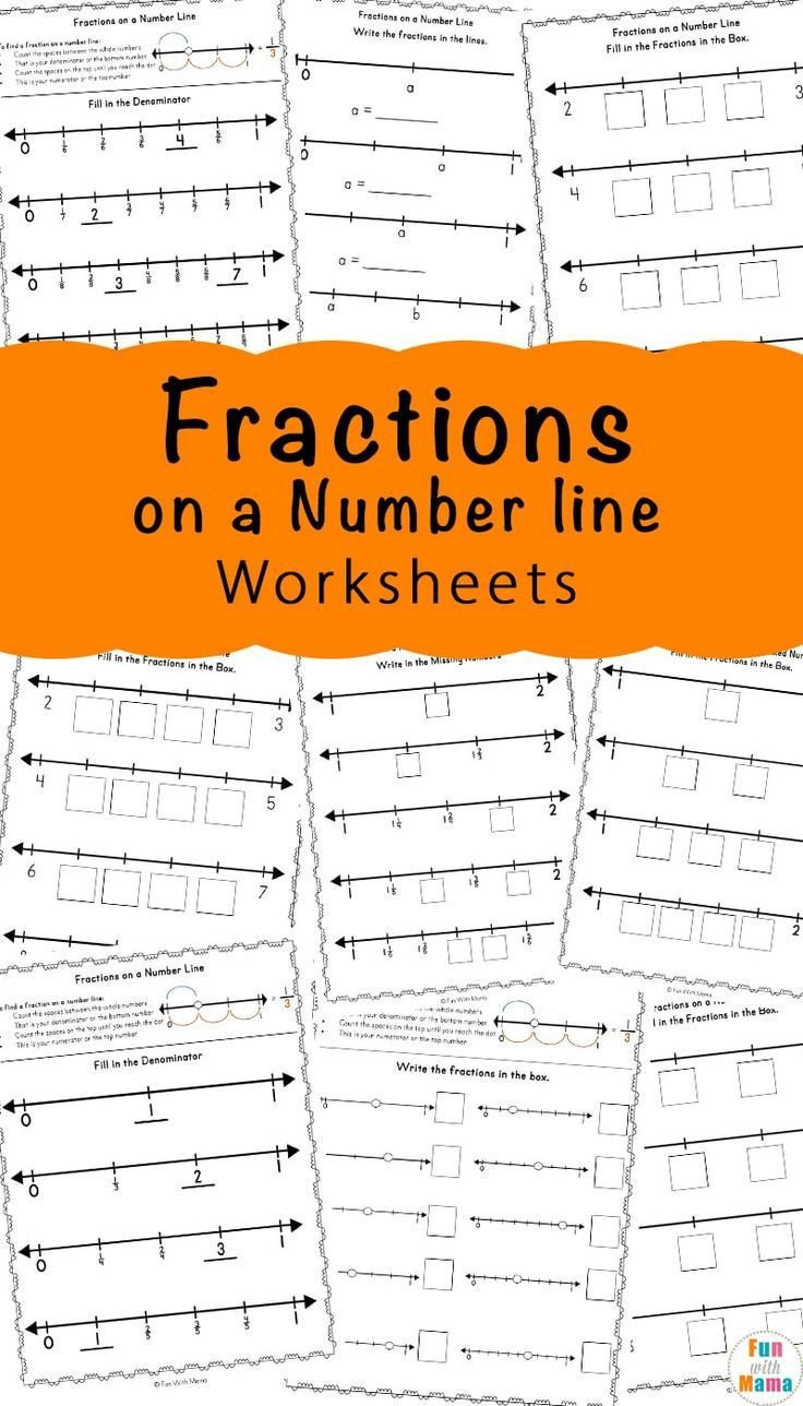 Fractions On A Numberline Worksheet Fractions A Number Line Worksheets