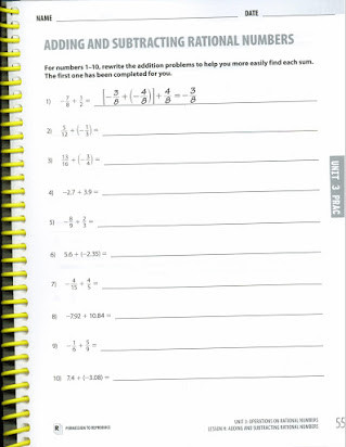 Integers and Rational Numbers Worksheet Homework Practice Add and Subtract Rational Numbers