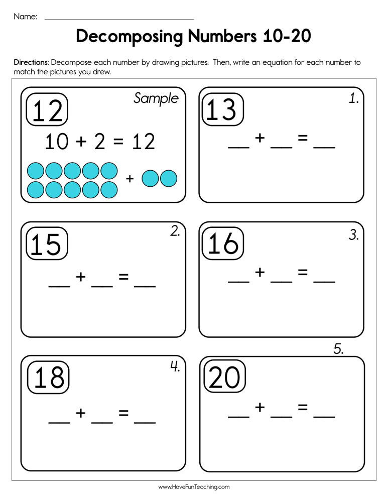 de posing numbers 10 20 worksheet