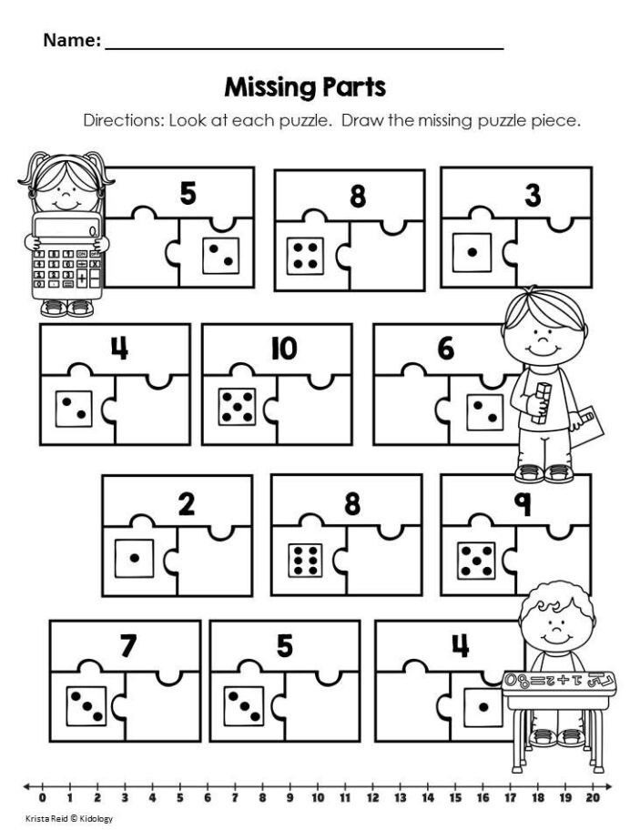 Kindergarten Decomposing Numbers Worksheet De Posing Numbers Kindergarten Worksheets Free Part whole
