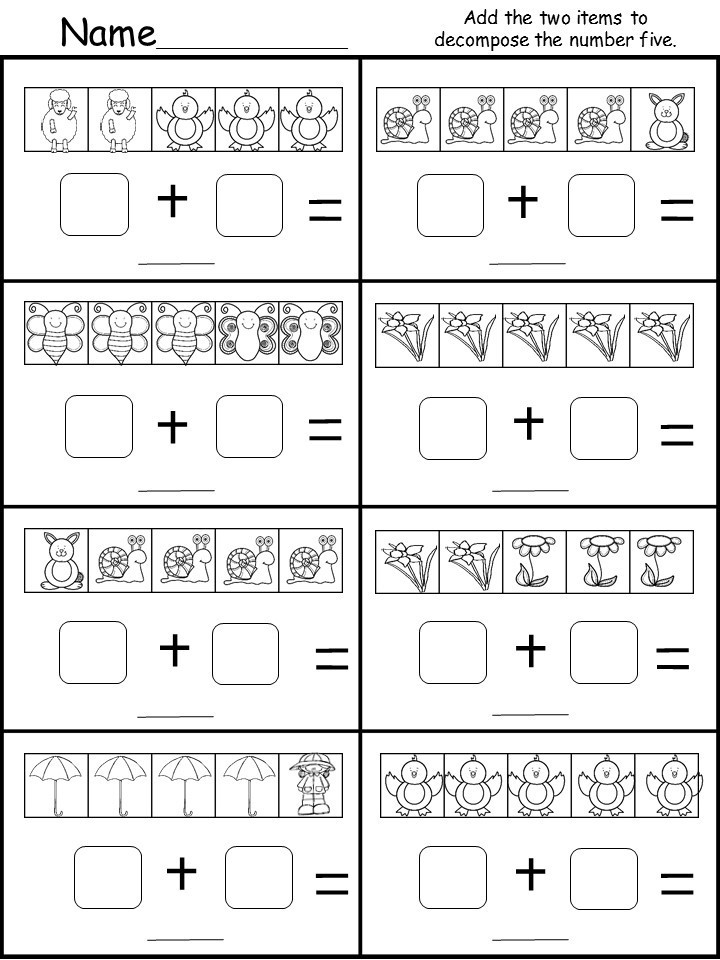 Kindergarten De posing Worksheet Number 5 kindermomma