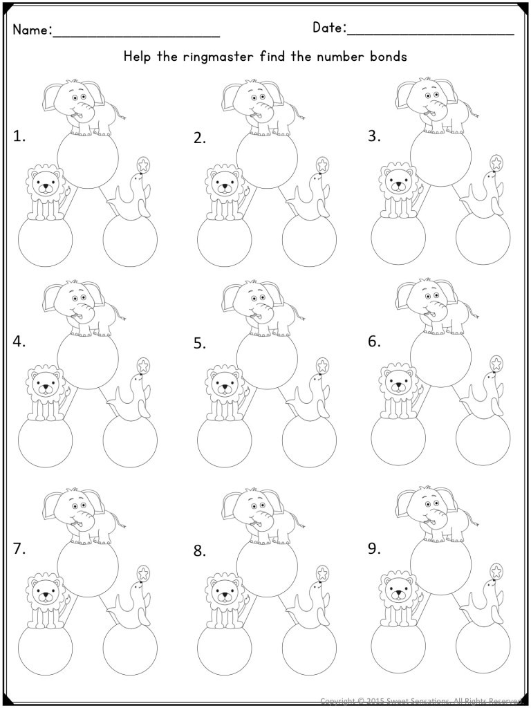 Kindergarten Decomposing Numbers Worksheet Teaching Posing and De Posing Numbers to Kindergarten