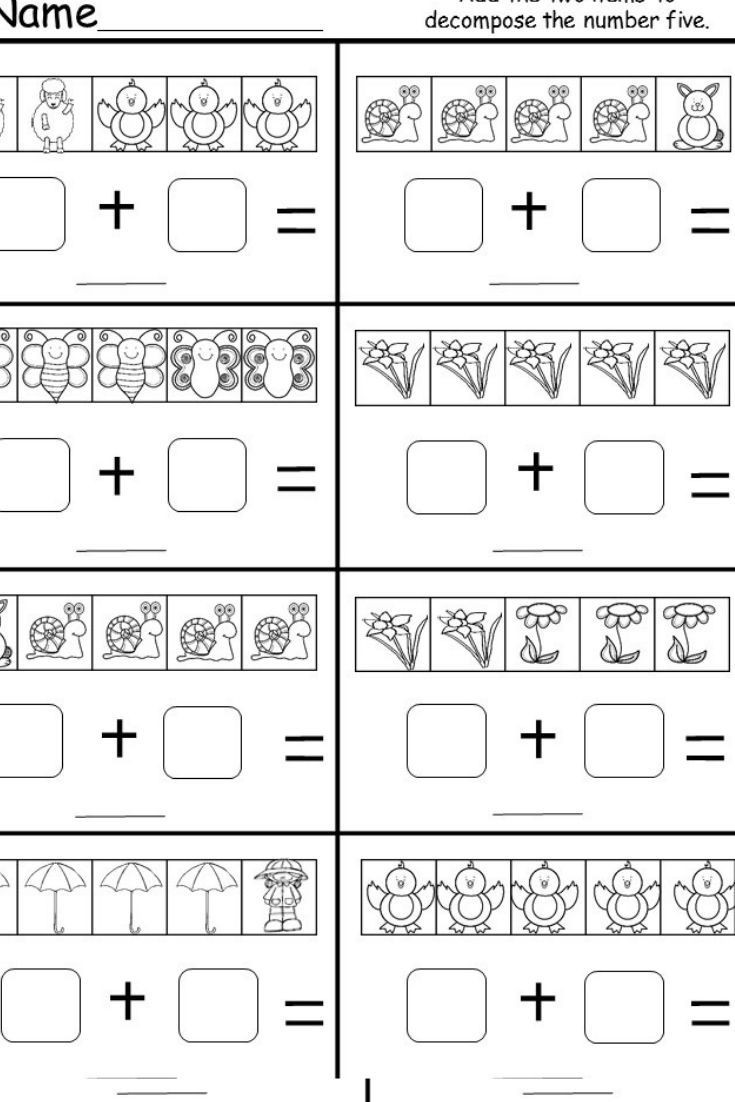 Kindergarten Decomposing Numbers Worksheet This is A Free Kindergarten De Posing Numbers Worksheet