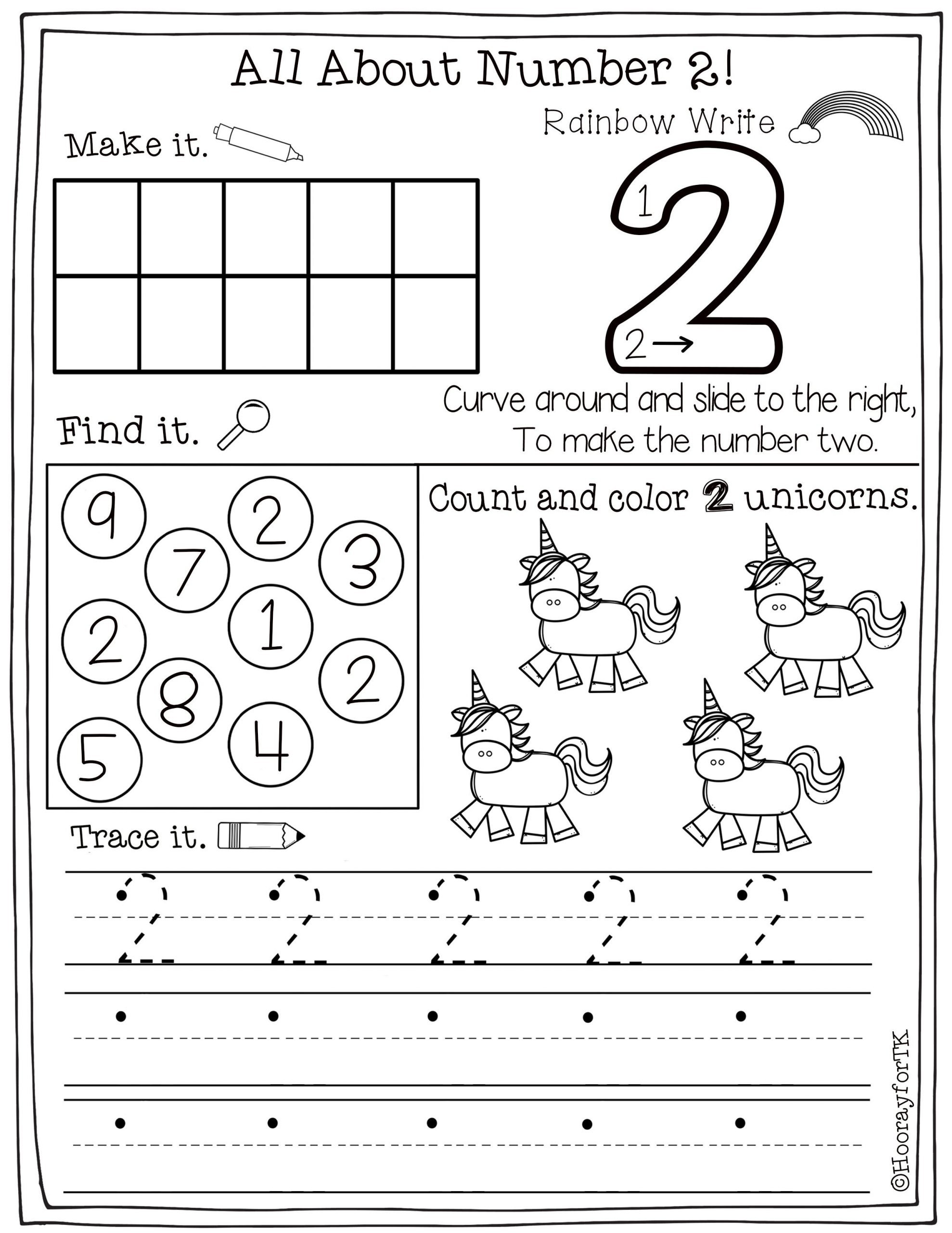 Kindergarten Number Recognition Worksheets Printable Number Worksheets In 2020