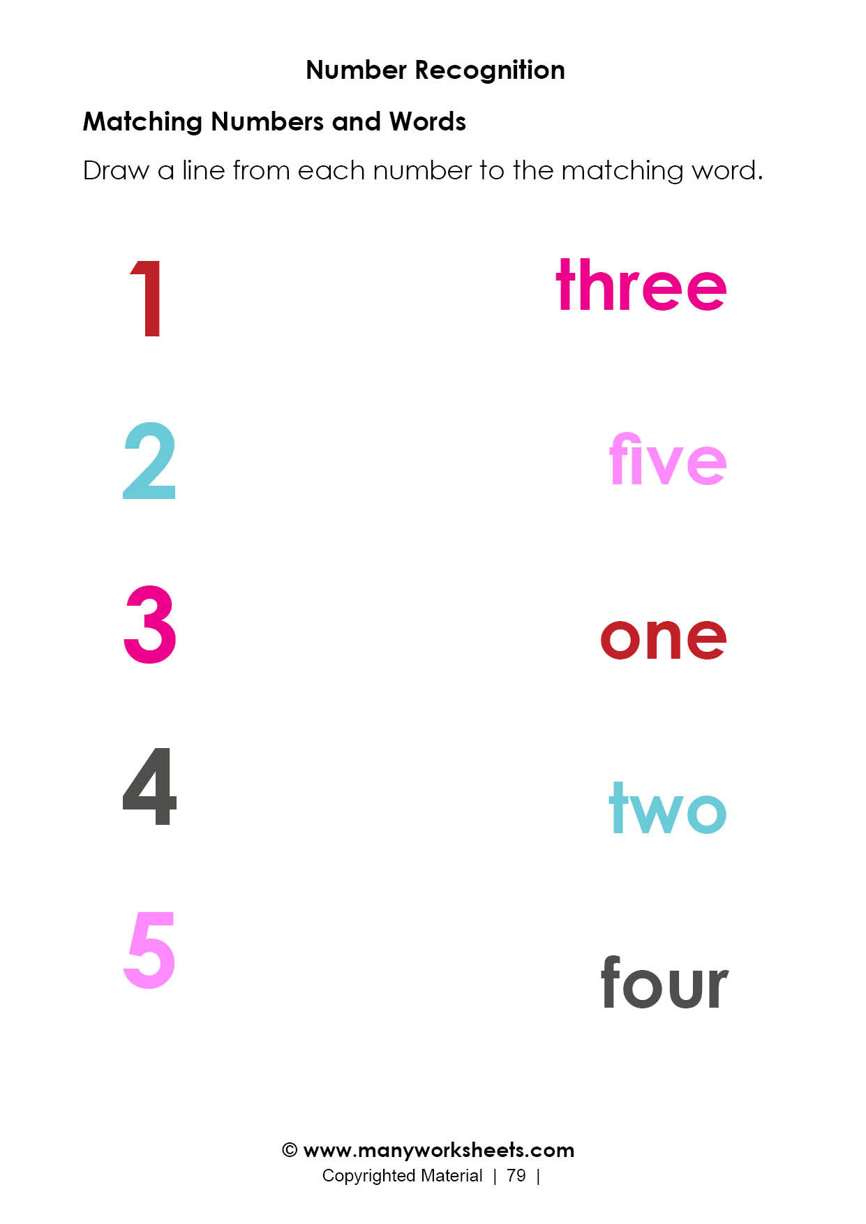 number recognition 3