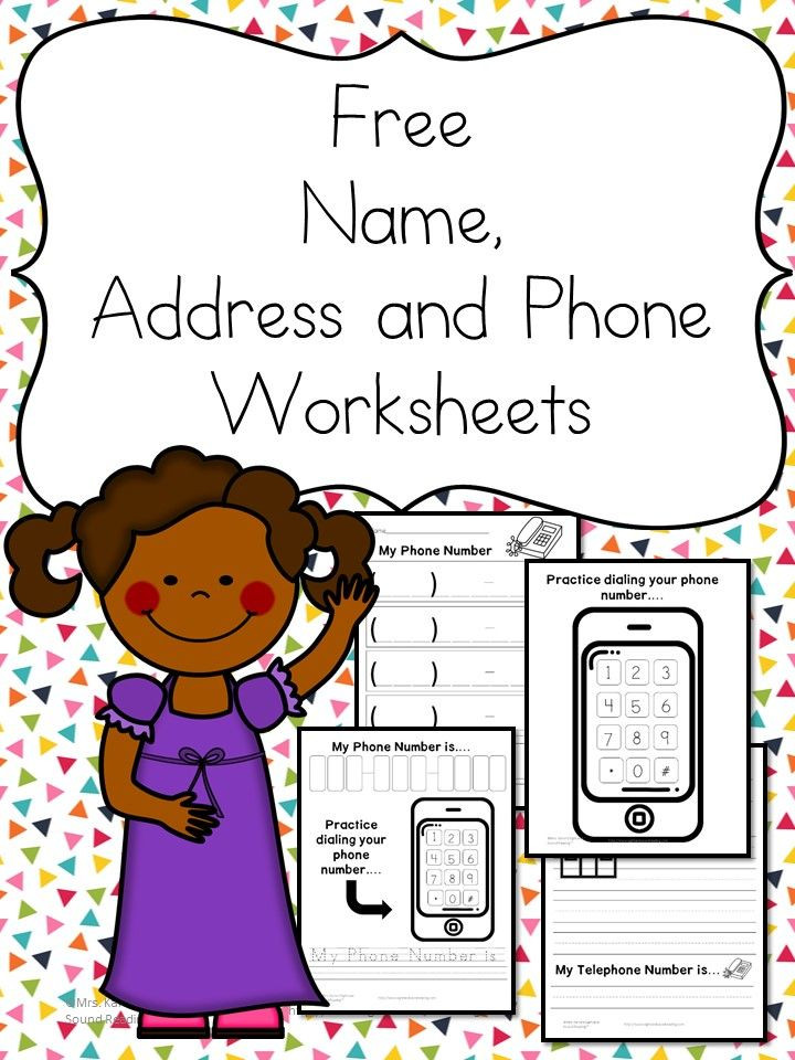 Name Address Phone Number Worksheets – Free and Fun