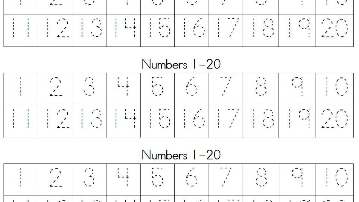 Number 10 20 Worksheets Printable Number Tracing Worksheets