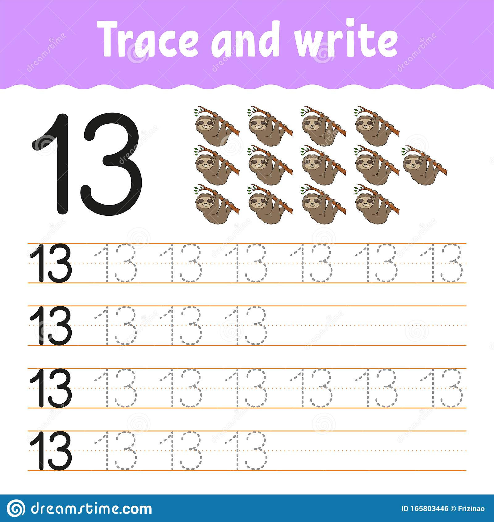 trace write handwriting practice learning numbers kids education developing worksheet activity page game toddlers