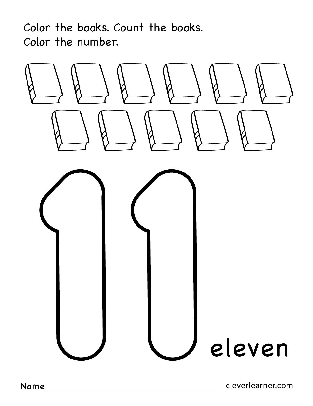 Number 14 Worksheet for Preschool Number Eleven Writing Counting and Identification Printable