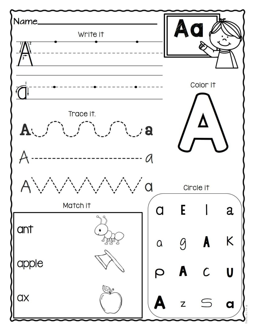 Number 14 Worksheets for Preschoolers Worksheet Letter Worksheet for Preschoolers Printable