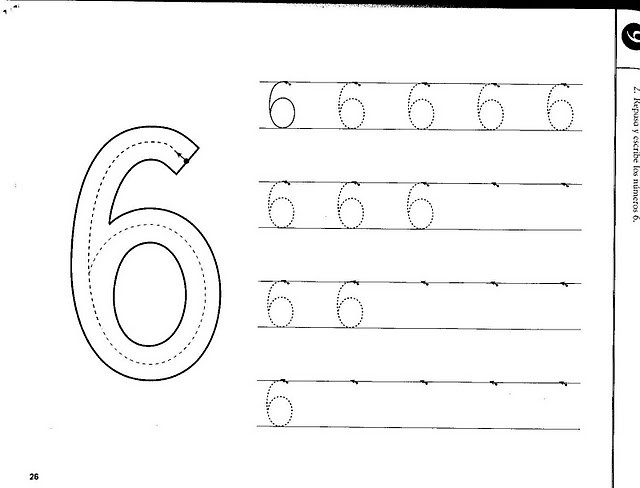 number six 6 tracing and coloring worksheets 8
