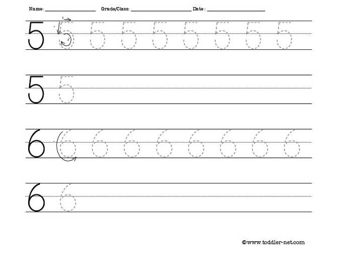 Number 6 Tracing Worksheets Tracing Worksheet Numbers 5 and 6