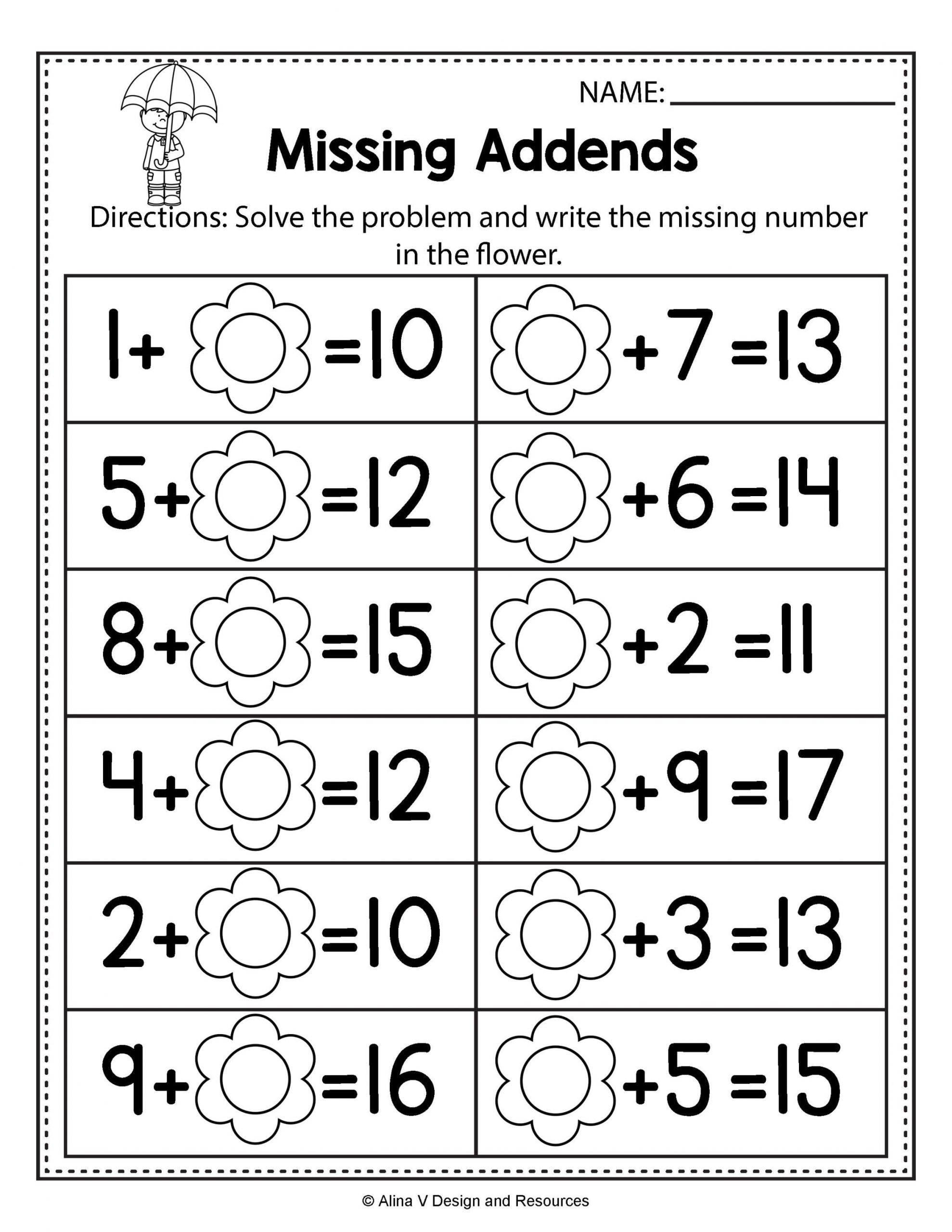 Number Bond Worksheets 1st Grade Account Suspended