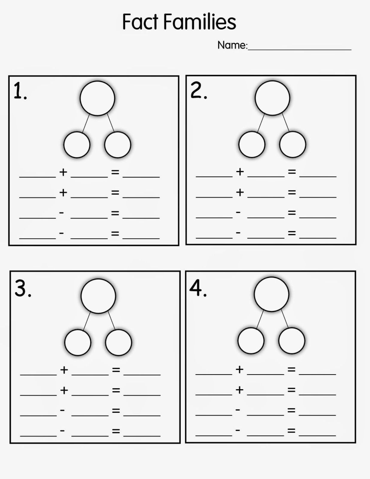 Number Bond Worksheets 1st Grade Pin On Printable Blank Worksheet Template