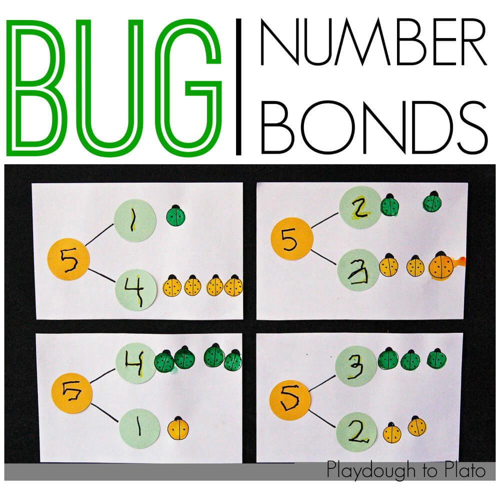 Number Bond Worksheets to 20 Bug Number Bonds Playdough to Plato